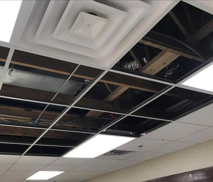 Water Damage in San Antonio Office Due to a Leak in AC Unit  After