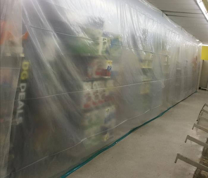 Mold Remediation Containment in a San Antonio Store